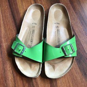 Green Birkenstock's